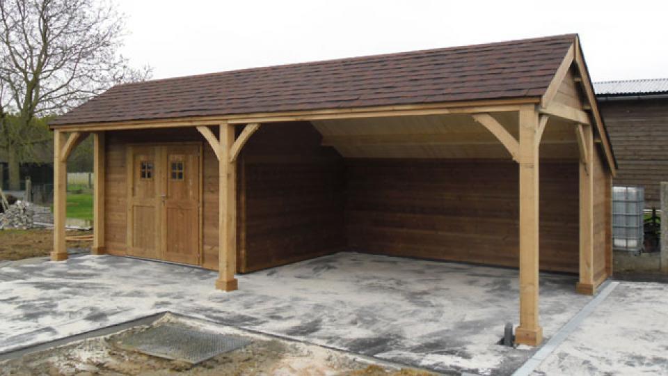 Blokhut met carport | Garden Special